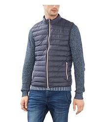 blaue ärmellose Jacke von Esprit