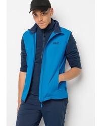 blaue ärmellose Jacke von Jack Wolfskin