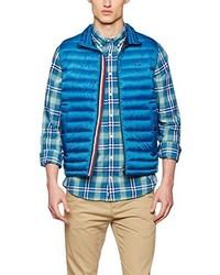 blaue ärmellose Jacke von Tommy Hilfiger