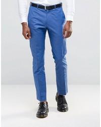 blaue Anzughose von Asos