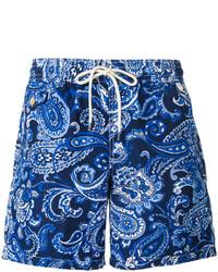 blaue Badeshorts mit Paisley-Muster von Polo Ralph Lauren