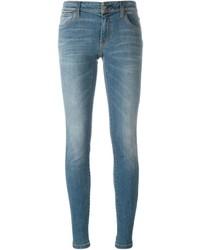blaue enge Jeans aus Baumwolle von Burberry