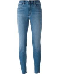 blaue enge Jeans aus Baumwolle von Helmut Lang