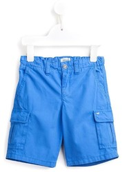 blaue Baumwollshorts von Armani Junior