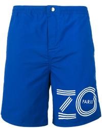 blaue bedruckte Badeshorts von Kenzo