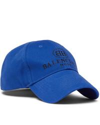 blaue bedruckte Baseballkappe von Balenciaga