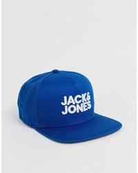 blaue bedruckte Baseballkappe von Jack & Jones