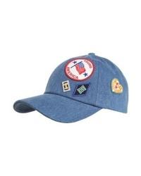 blaue bedruckte Baseballkappe von Tommy Hilfiger