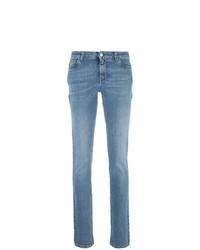 blaue bedruckte enge Jeans von Givenchy