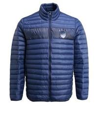 blaue bedruckte Jacke von adidas