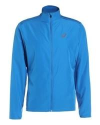 blaue bedruckte Jacke von Asics
