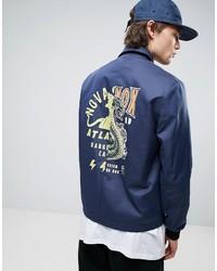 blaue bedruckte Jacke von Asos