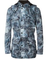 blaue bedruckte Jacke von Belstaff