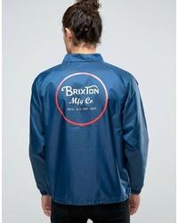 blaue bedruckte Jacke von Brixton