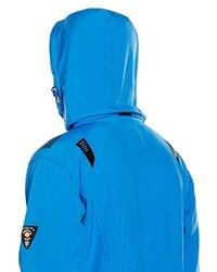 blaue bedruckte Jacke von Geographical Norway