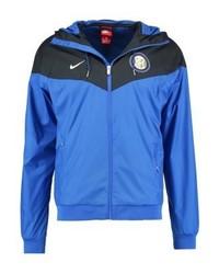 blaue bedruckte Jacke von Nike