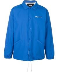 blaue bedruckte Jacke von Stussy