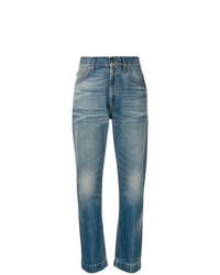 blaue bedruckte Jeans von Gucci
