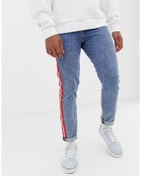 blaue bedruckte Jeans von Levi's