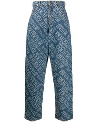blaue bedruckte Jeans von VERSACE JEANS COUTURE