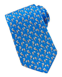 blaue bedruckte Krawatte