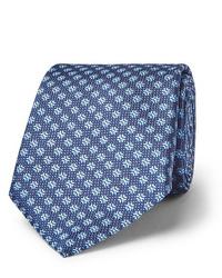 blaue bedruckte Krawatte von Canali