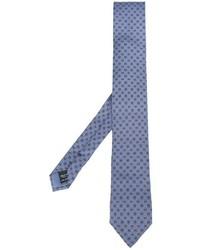 Blaue bedruckte Seidekrawatte von Dolce & Gabbana