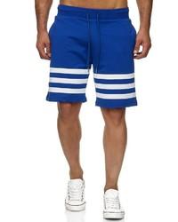 blaue bedruckte Sportshorts von Redbridge