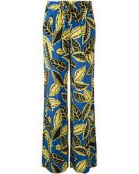 blaue bedruckte weite Hose von Moschino