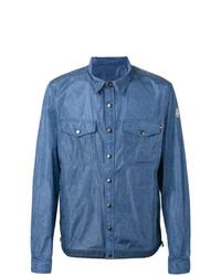 blaue beschlagene Shirtjacke aus Jeans von Moncler