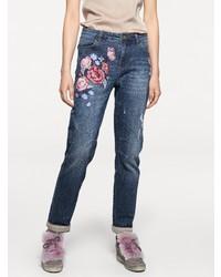 blaue bestickte Jeans von B.C. BEST CONNECTIONS by Heine