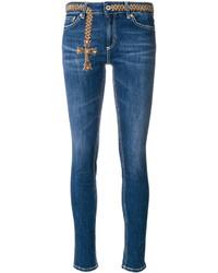 blaue bestickte Jeans von Dondup
