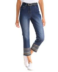 blaue bestickte Jeans von DRESS IN