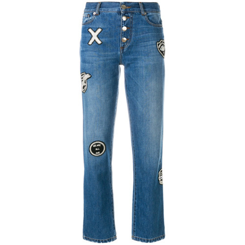 blaue bestickte Jeans von EACH X OTHER