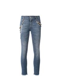 blaue bestickte Jeans von Ermanno Scervino