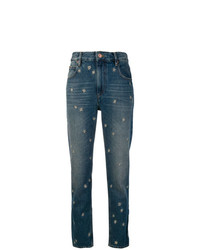 blaue bestickte Jeans von Isabel Marant Etoile