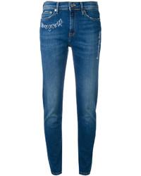 blaue bestickte Jeans von Mira Mikati