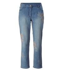 blaue bestickte Jeans von Sara Lindholm by Happy Size