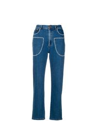blaue bestickte Jeans von See by Chloe