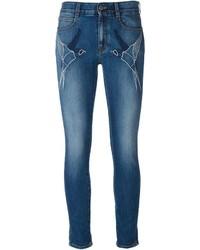 blaue bestickte Jeans von Stella McCartney