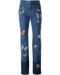 blaue bestickte Jeans von Valentino