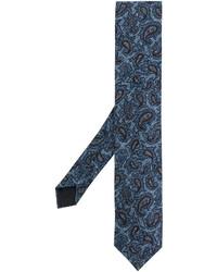 blaue bestickte Krawatte von Lardini