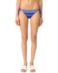 blaue Bikinihose mit geometrischem Muster von Shoshanna
