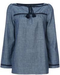 blaue Bluse von A.P.C.