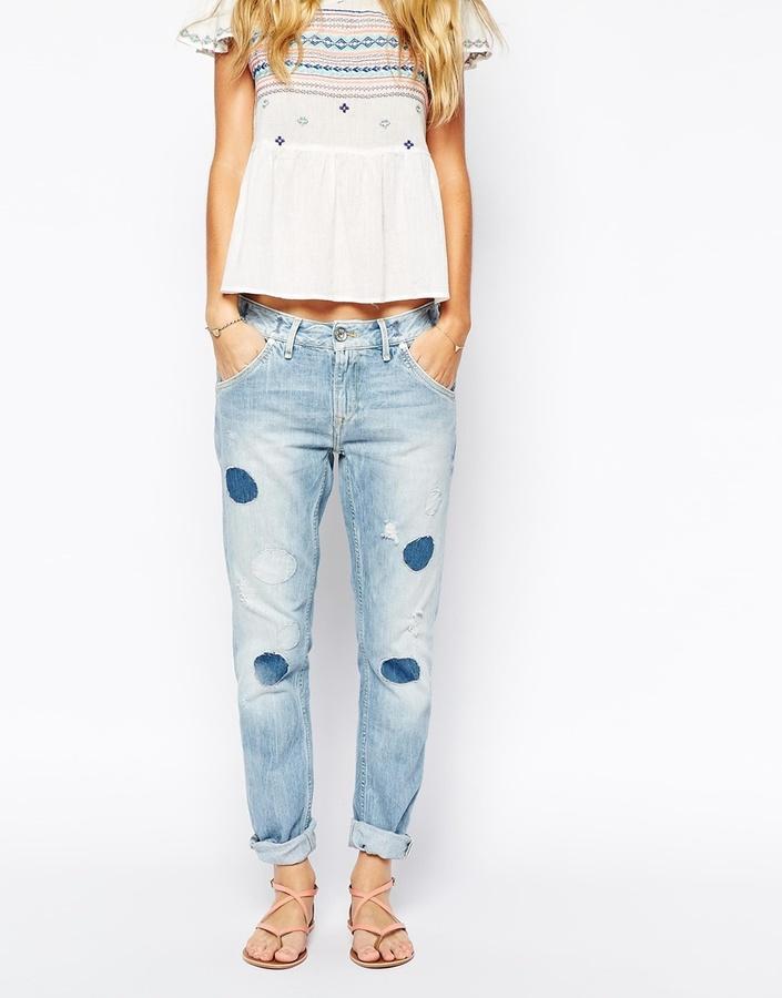 blaue Boyfriend Jeans von Pepe Jeans, €132   Asos   Lookastic
