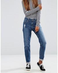 Blaue Boyfriend Jeans von Asos