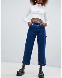blaue Boyfriend Jeans von Bershka