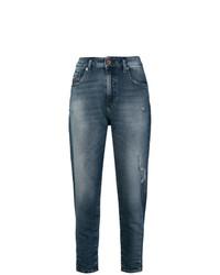 blaue Boyfriend Jeans von Diesel