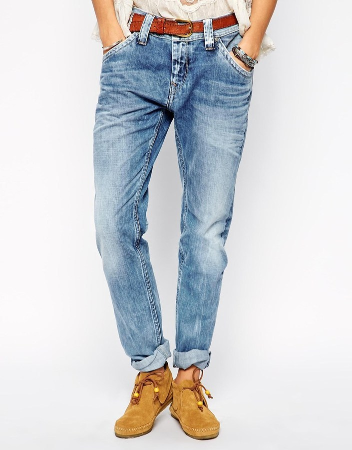 new products e1480 60d2f €132, blaue Boyfriend Jeans von Pepe Jeans