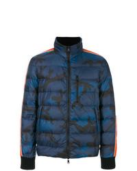 blaue Camouflage Daunenjacke von Valentino